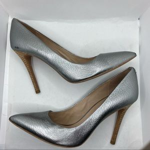 Coach silver pumps 9
